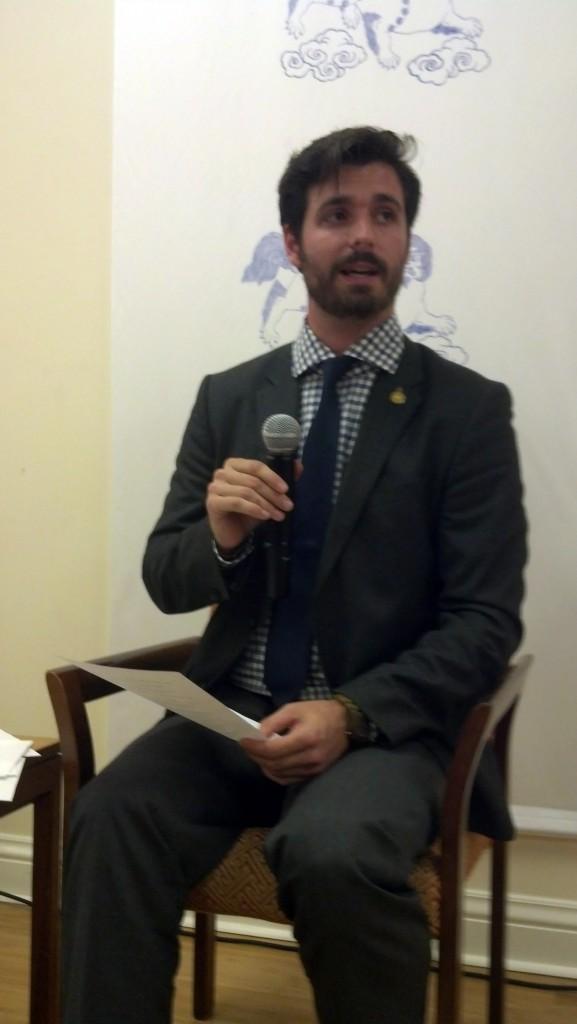 Director, Cody McGough talks to the community.