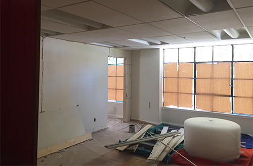 Community Room under construction